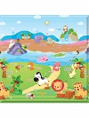 TAPETE BABY PLAY MAT 125X125CM SPORTY ANIMALS IMP91355 SAFETY
